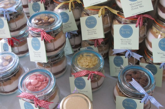 Cookie mix jars by Baked By Me. Perfect foodie gift!