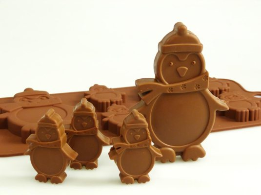 Winter Penguin Chocolate Mould