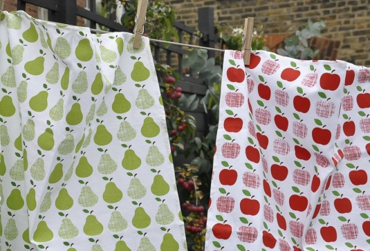 Set Of 2 Tea Towels Apple And Pears3