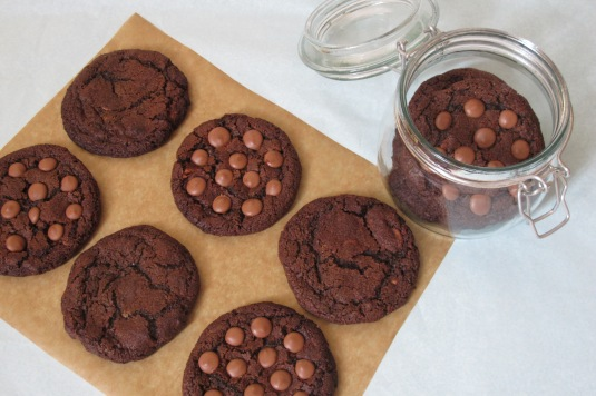 Baked By Me Double Choc Cookies