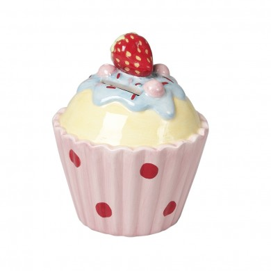 Ceramic Strawberry Cake Money Bank