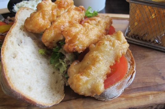 Fish fingers sandwich