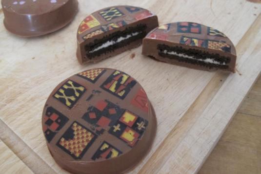 Chocolate Covered Oreos Aztec Print