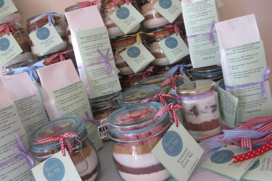 Baked By Me Cookie Mix Jars and Bags