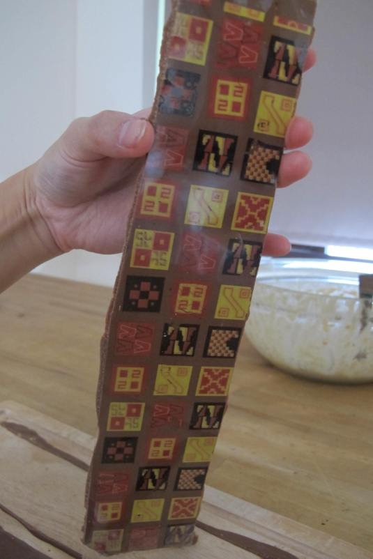 Chocolate Transfers in Use Aztec Print