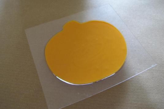 Pumpkin mould in use