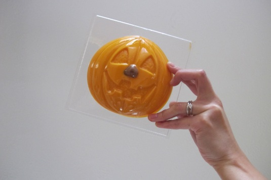 Large Pumpkin Mould with Belgian Orange Chocolate