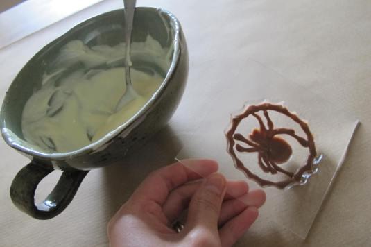 Chocolate border spider web