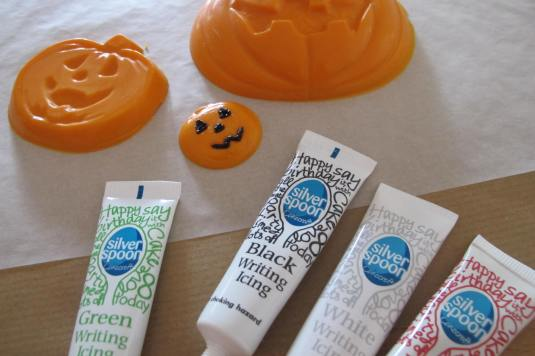 Chocolate pumpkin and edible writing icing pens
