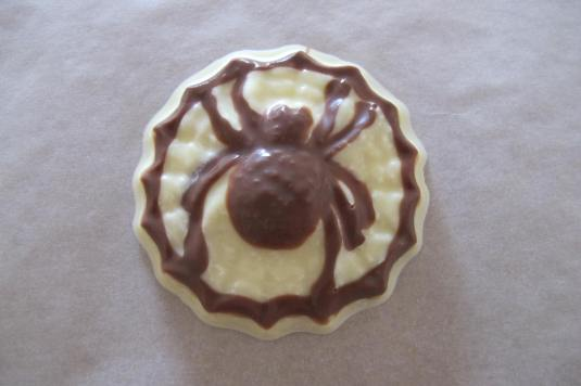 Chocolate Spider made with Baked By Me's mould