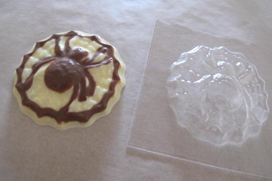 Chocolate Spider made with Baked By Me's Halloween mould