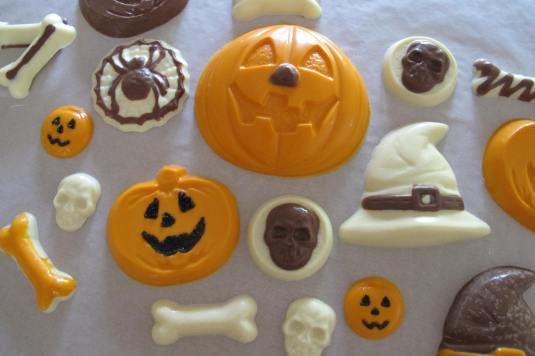 Halloween Chocolate made from cool moulds