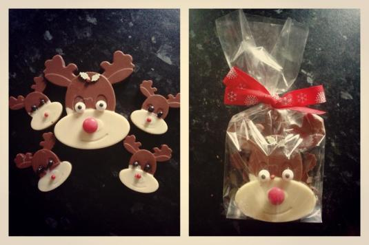 Chocolate reindeers by Kerry Fieldhouse with Baked By Me's mould
