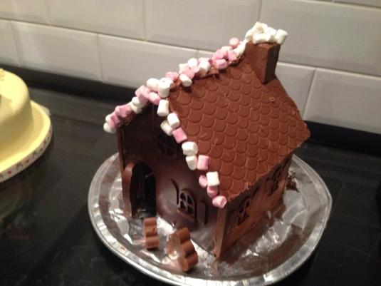 Chocolate house made by Lou Lynch with Baked By Me's mould