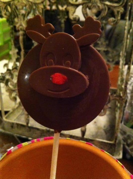 Rudolph Lollipop made by Sarah Baker