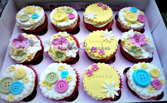 Cakes made with our button mould by  Jade Carly Jones