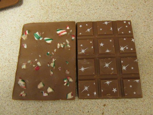 Chocolate bars made by Emma Chatwood Peppermint Chocolate Bar made with our mould and transfer.