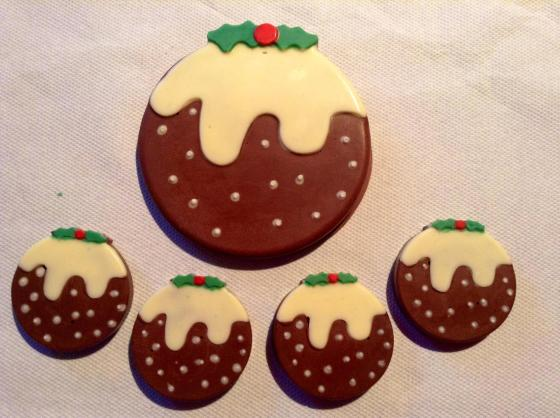 Christmas Pudding Chocolates by Lesley Sinclair
