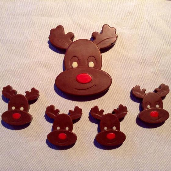 Rudolph Chocolate Reindeers by Lesley Sinclair