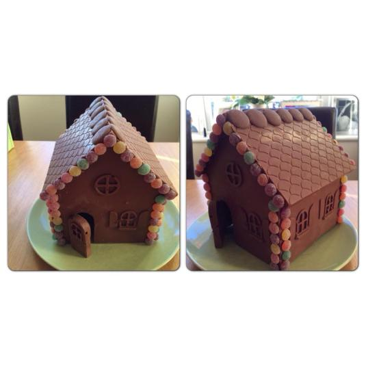 Chocolate gingerbread house by Sarah Tuohy with Baked By Me's mould