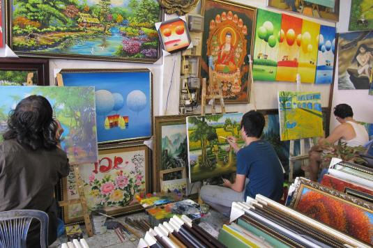 Artists at work, Vietnam