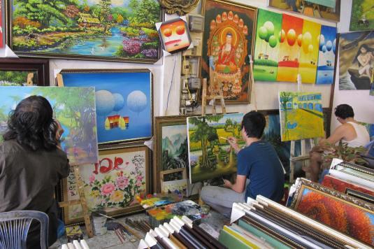 Artists at work, Vietnam