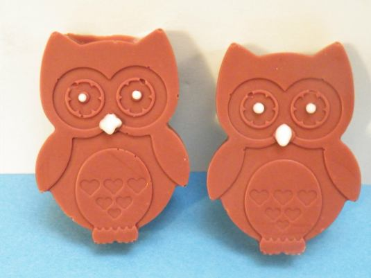 Chocolate Owls by The Chocolate Ear with Baked By Me's moulds