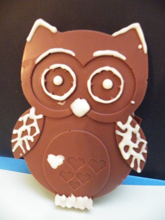 Chocolate Owls by The Chocolate Ear. Moulds by Baked By Me