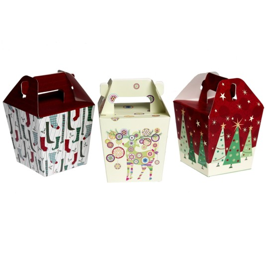 Pack Of 3 Christmas Panettone Gift Boxes