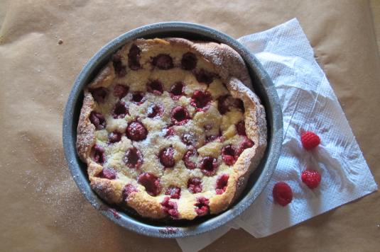 Raspberry Dutch Baby