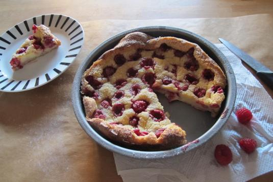 Raspberry Dutch Baby - ready to serve