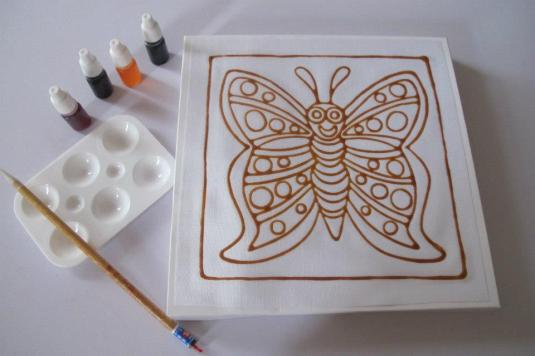 Butterfly Batik Painting Kit