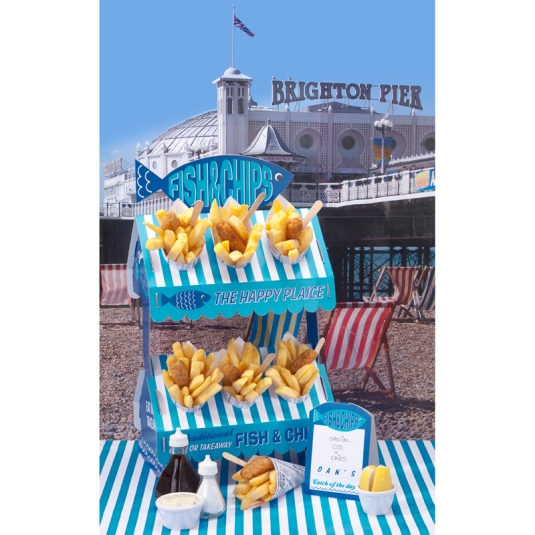 Fish and Chips Party Stand