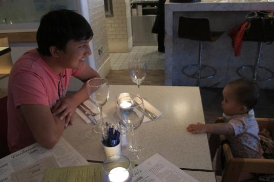 Candlelight dinner with daddy