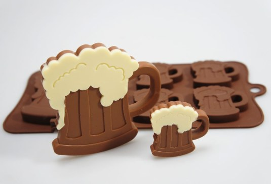 Homemade Beer Mug Chocolates