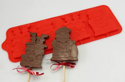 Santa Chimney Lollipop Mould