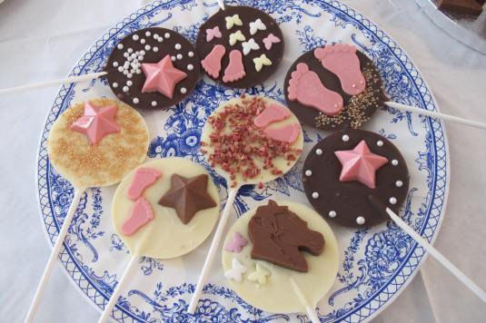 Homemade Chocolate lollipops