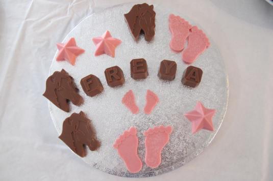 Personalised homemade chocolates