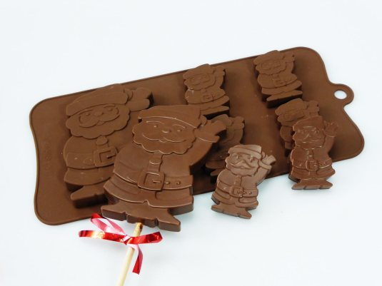 Waving Santa Chocolate Mould
