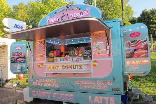 Pastel Food Cart