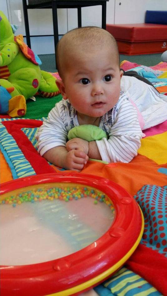 Tummy time at playgroup