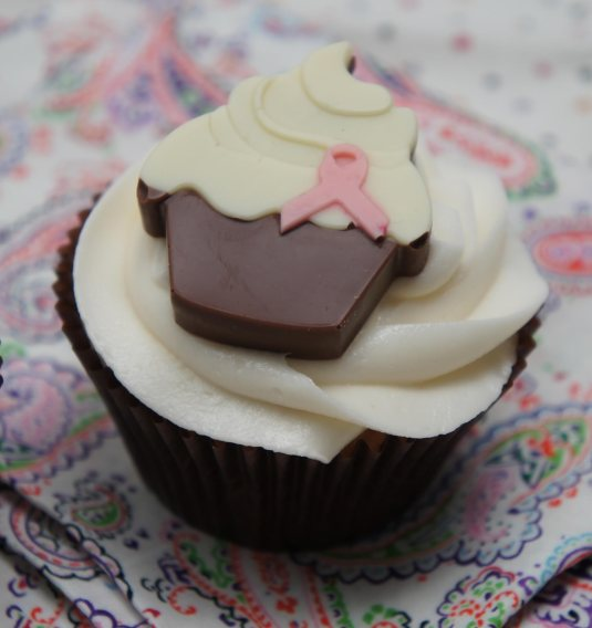 Chocolate cupcake topper