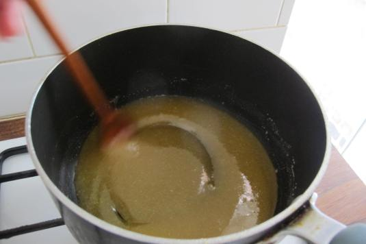 Sugar and golden syrup paste