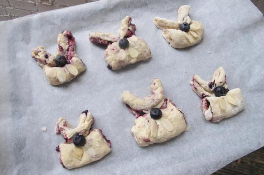 Blueberry Bunny Scones